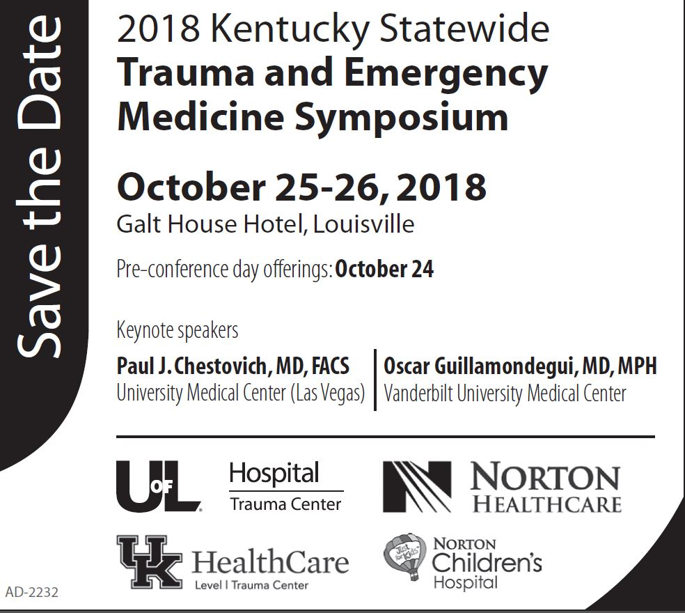 Save the Date Emergency Medicine Symposium