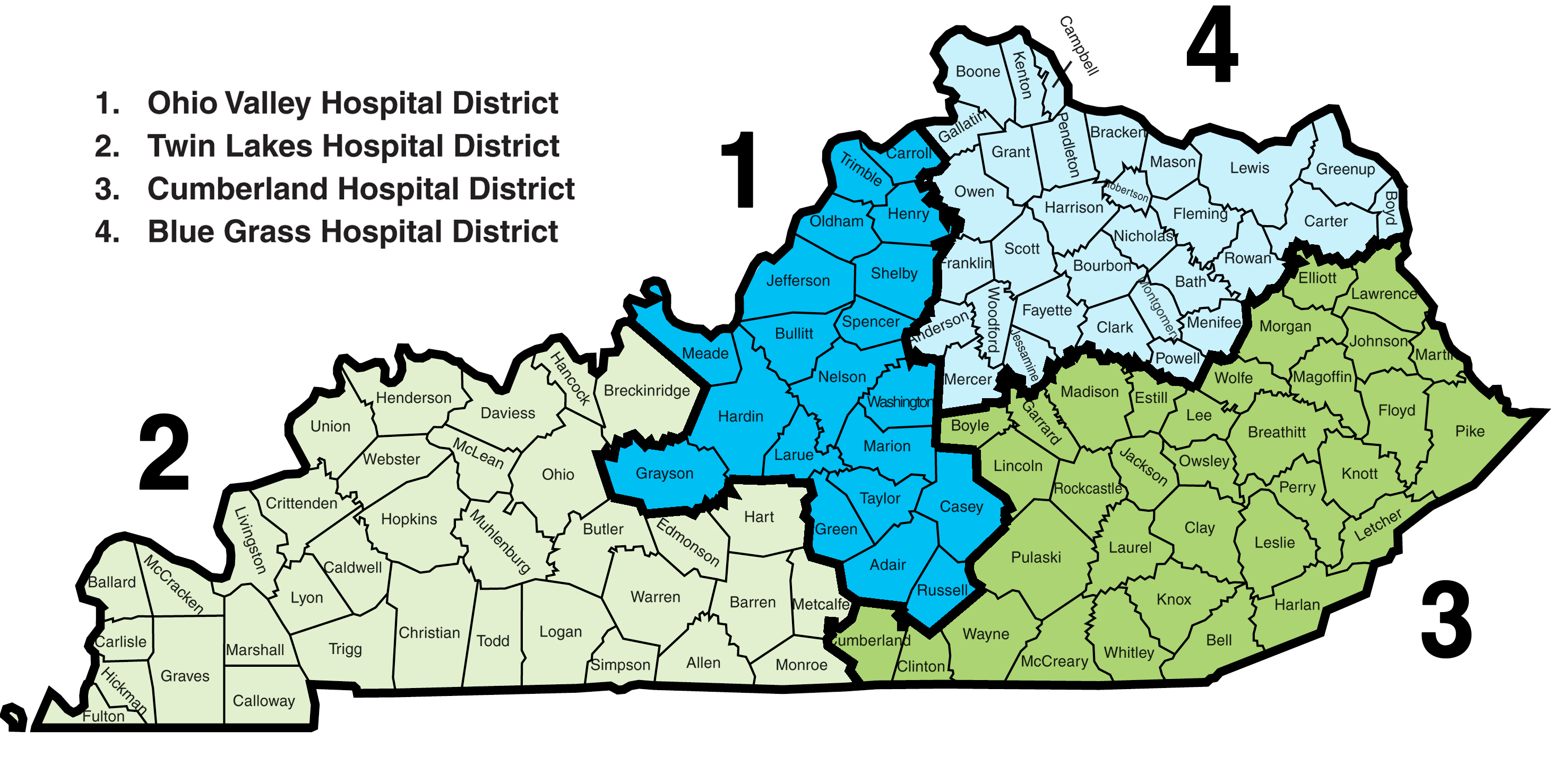 KHA District Map